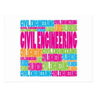 Colorful Civil Engineering Post Cards