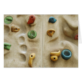 Colorful Climbing Wall Rocks Card