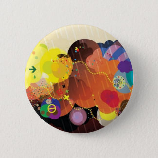 Colorful clouds 6 cm round badge