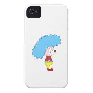 Colorful Clown Cartoon. Blue Hair. iPhone 4 Case