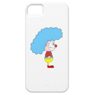 Colorful Clown Cartoon. Blue Hair. iPhone 5 Covers