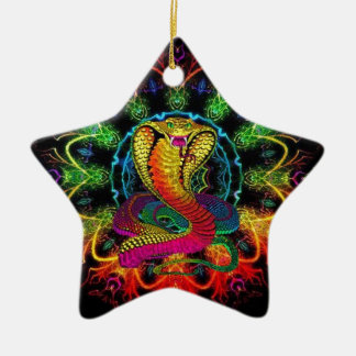 colorful cobra christmas ornament