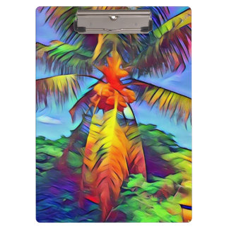 Colorful Coconut Palm Tree 2 Clipboard