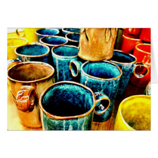 Colorful Coffee Mugs Gifts for Coffee Lovers Card