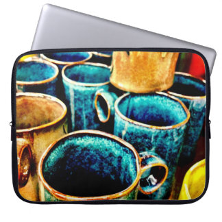 Colorful Coffee Mugs Gifts for Coffee Lovers Laptop Sleeve