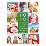 COLORFUL COLLAGE   HOLIDAY PHOTO CARD INVITATION