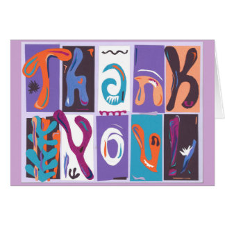 "Colorful collage style ""Thank You"" card"