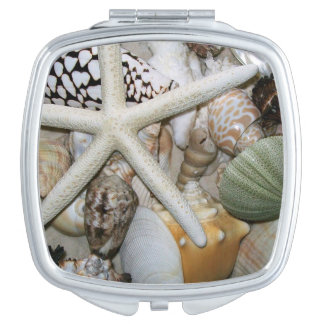 Colorful Collection of Seashells Mirror For Makeup