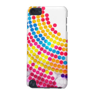 Colorful color Circle  Dots Pattern for Girls iPod Touch (5th Generation) Covers
