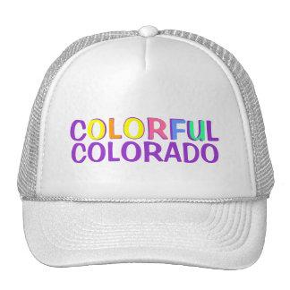 Colorful Colorado colors simple hat