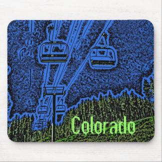 Colorful Colorado ski lift mousepad