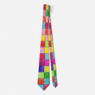 Colorful Colored In Graph Paper Squares Tie