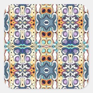 Colorful Columns Pattern Square Sticker