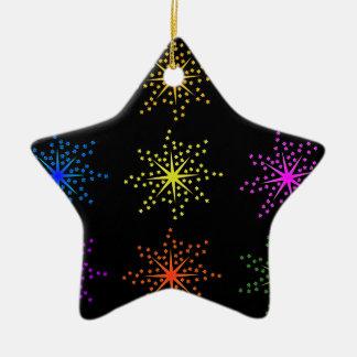 Colorful Comic Explosions Ceramic Star Decoration