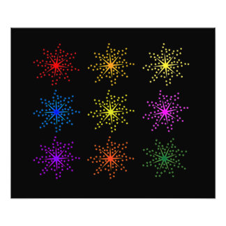 Colorful Comic Explosions Photo Print
