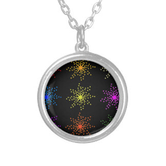 Colorful Comic Explosions Silver Plated Necklace