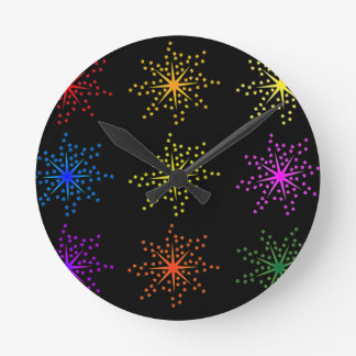 Colorful Comic Explosions Wall Clocks