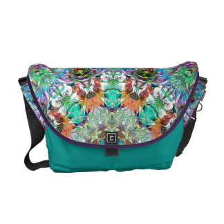 Colorful Concentric Abstract Commuter Bags