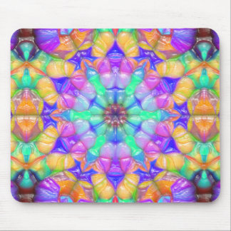 Colorful Concentric Reflections Mouse Mat