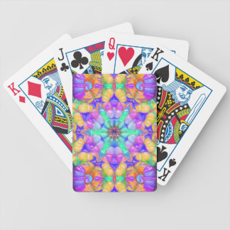Colorful Concentric Reflections Poker Deck