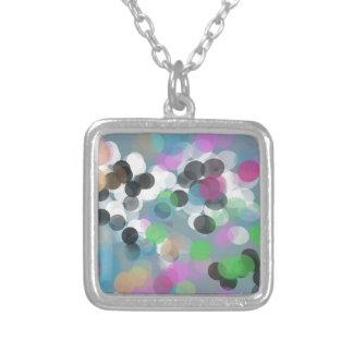 Colorful Confetti Bokeh Dots Necklace