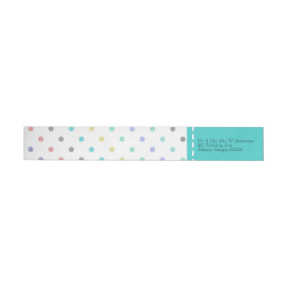 Colorful Confetti Polka Dot Wedding Address Labels