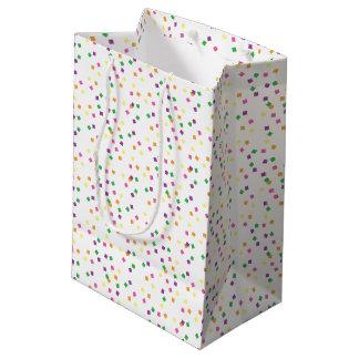 Colorful Confetti Squares Party Celebration Medium Gift Bag