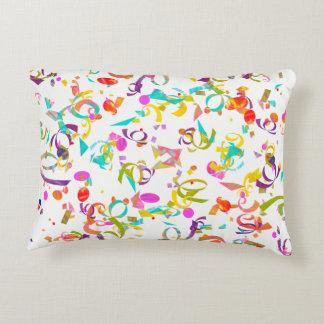 Colorful Confetti Toss Artwork Decorative Cushion