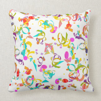 Colorful Confetti Toss Artwork Throw Pillow