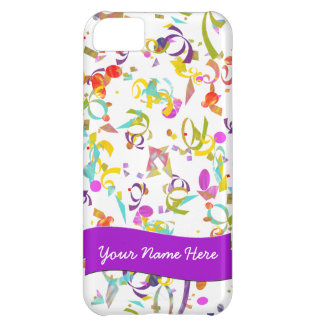 Colorful Confetti Toss Over White iPhone 5C Case