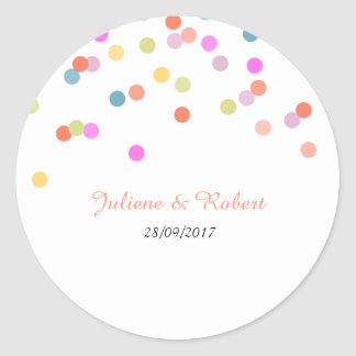 Colorful Confetti Wedding Thank You Sticker
