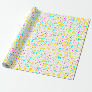 Colorful Confetti Wrapping Paper in Yellow, Pink