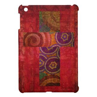 Colorful Contemporary Christian Mosaic Cross Art Case For The iPad Mini