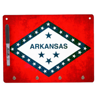 Colorful Contrast Arkansan Flag Dry-Erase Boards