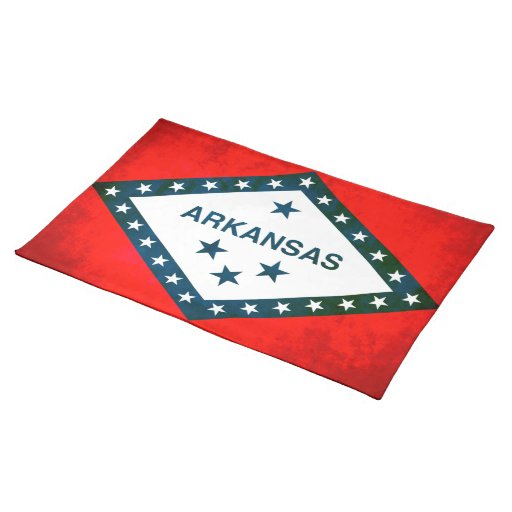 Colorful Contrast Arkansan Flag Placemats