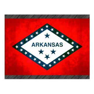 Colorful Contrast Arkansan Flag Postcard