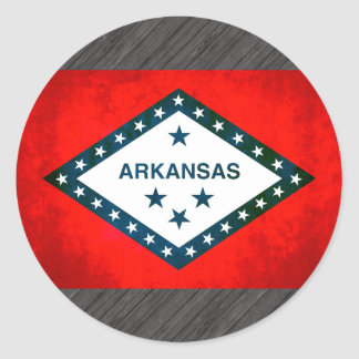 Colorful Contrast Arkansan Flag Round Sticker