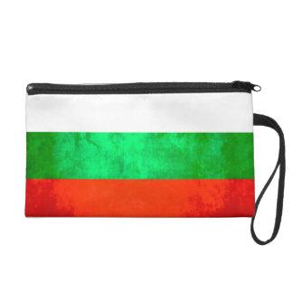 Colorful Contrast Bulgarian Flag Wristlet Purse