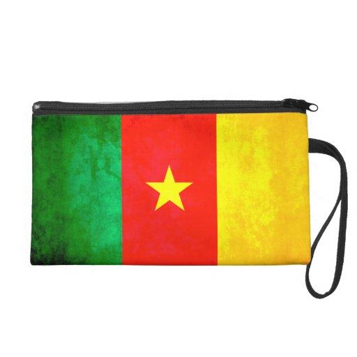 Colorful Contrast Cameroonian Flag Wristlet