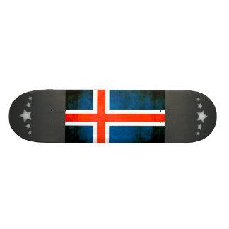Colorful Contrast Icelander Flag Skateboard
