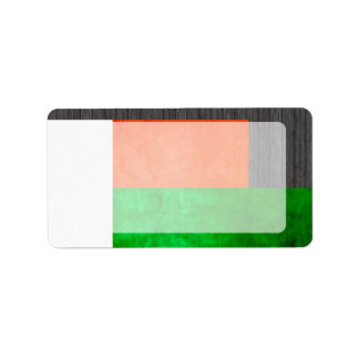 Colorful Contrast Malagasy Flag Address Label