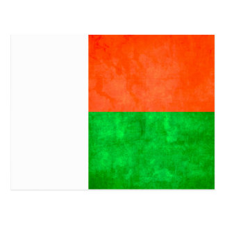 Colorful Contrast Malagasy Flag Post Cards