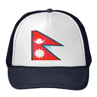 Colorful Contrast Nepalese Flag Trucker Hat