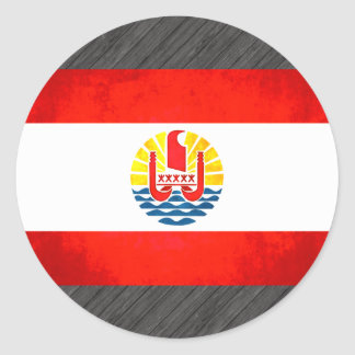 Colorful Contrast Polynesian Flag Stickers