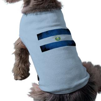 Colorful Contrast Salvadoran Flag Sleeveless Dog Shirt