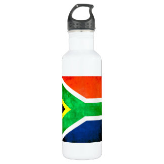 Colorful Contrast South AfricanFlag 710 Ml Water Bottle