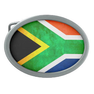 Colorful Contrast South AfricanFlag Belt Buckle
