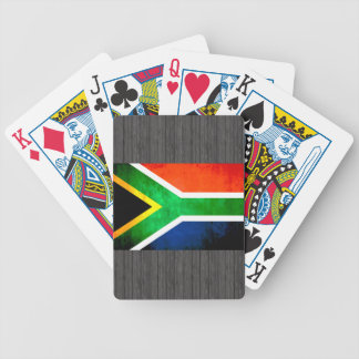 Colorful Contrast South AfricanFlag Bicycle Playing Cards