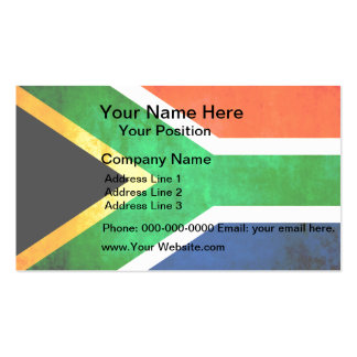 Colorful Contrast South AfricanFlag Business Cards