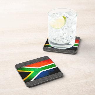 Colorful Contrast South AfricanFlag Beverage Coaster